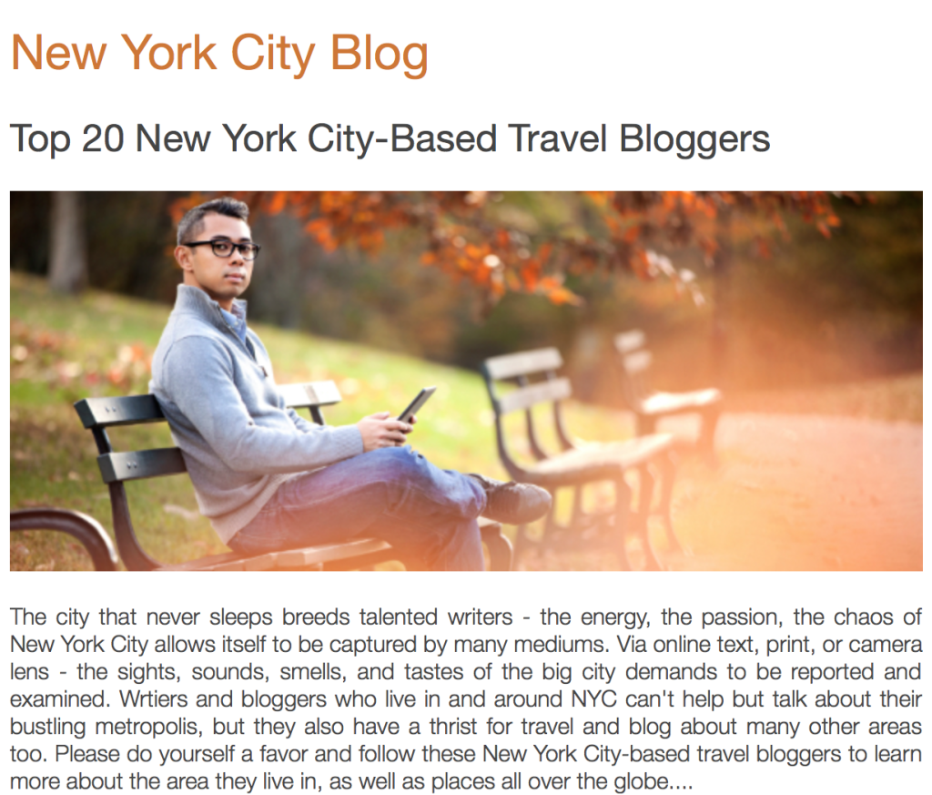 top 20 nyc travel bloggers