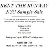 Rent the Runway Sample Sale Returns to NYC
